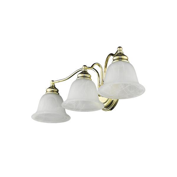 Essex Polished Brass 24-Inch Three-Light Bath Light, image 5