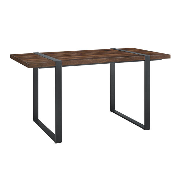 Urban Blend Dark Walnut and Black Dining Table, image 2