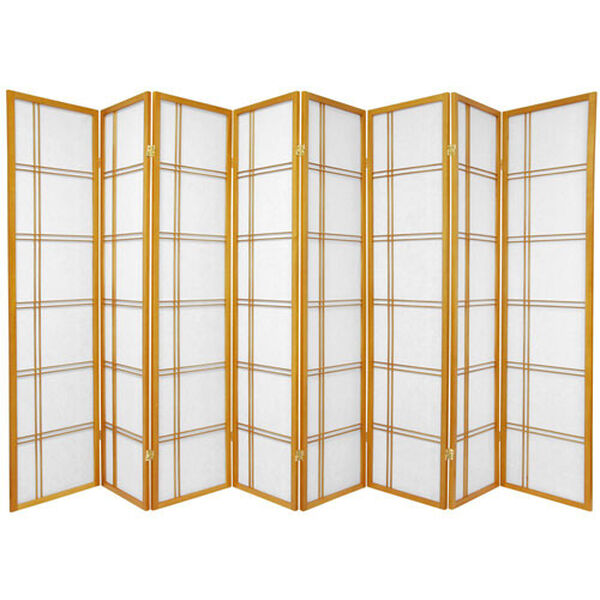 Double Cross Shoji Screen - Eight Panel Honey , Width - 136 Inches, image 1