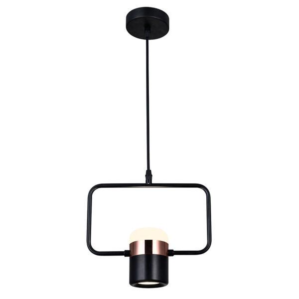 Moxie Black LED Pendant, image 1