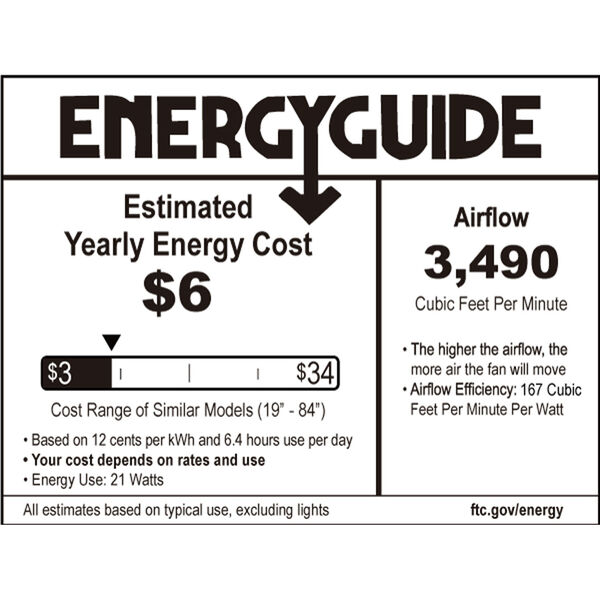 Minute Brushed Nickel and Dark Walnut 52-Inch Energy Star LED Ceiling Fan, image 2