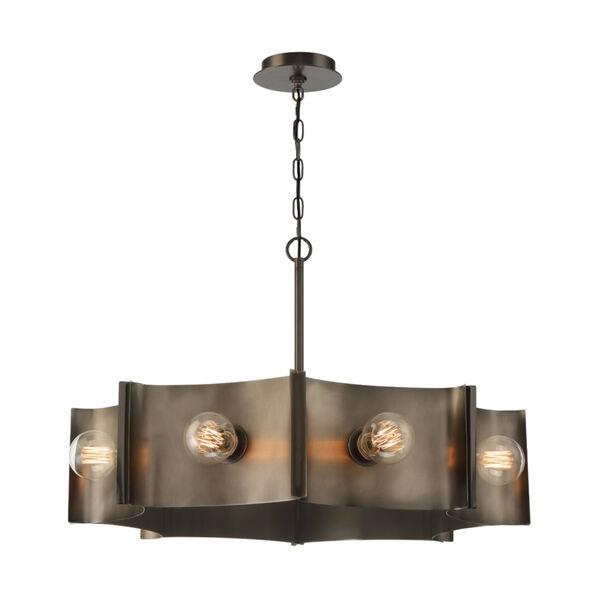 Metallo Vintage Nickel Eight-Light Chandelier, image 1