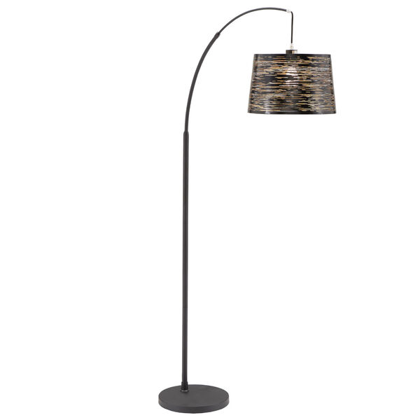 Quinn Black One-Light Arched Floor Lamp, image 1
