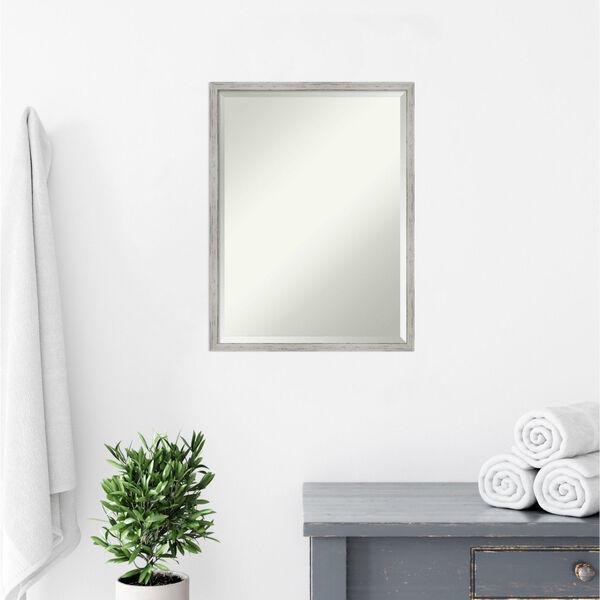 Shiplap White 19W X 25H-Inch Bathroom Vanity Wall Mirror, image 6