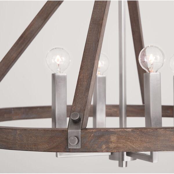 Hugo Grey Wash and Matte Nickel Four-Light Chandelier, image 5