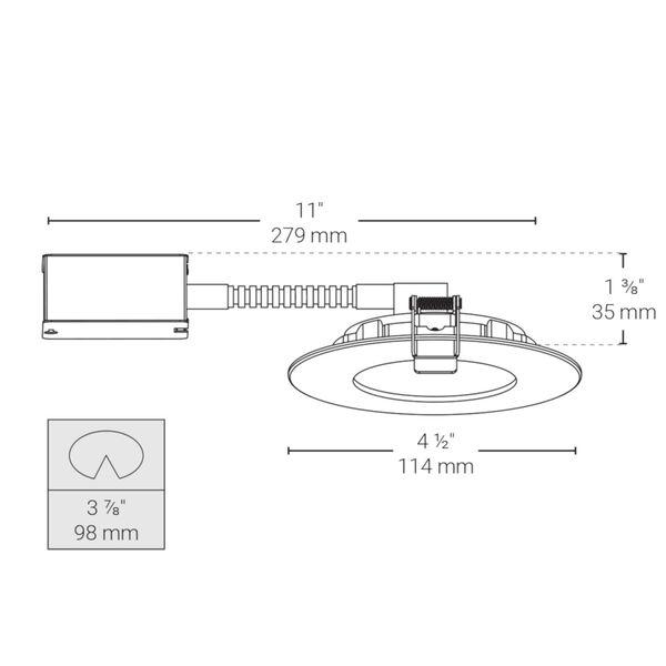 Matte White Wi-Fi LED Recessed Fixture Kit, image 4