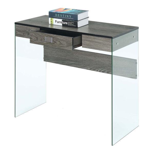 SoHo Weathered Gray Glass 36-Inch Desk, image 1