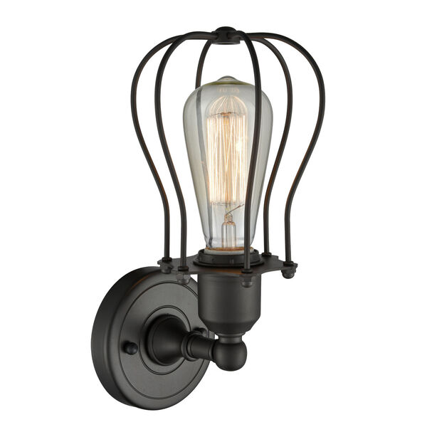 Austere Oil Rubbed Bronze Six-Inch One-Light Wall Sconce, image 2