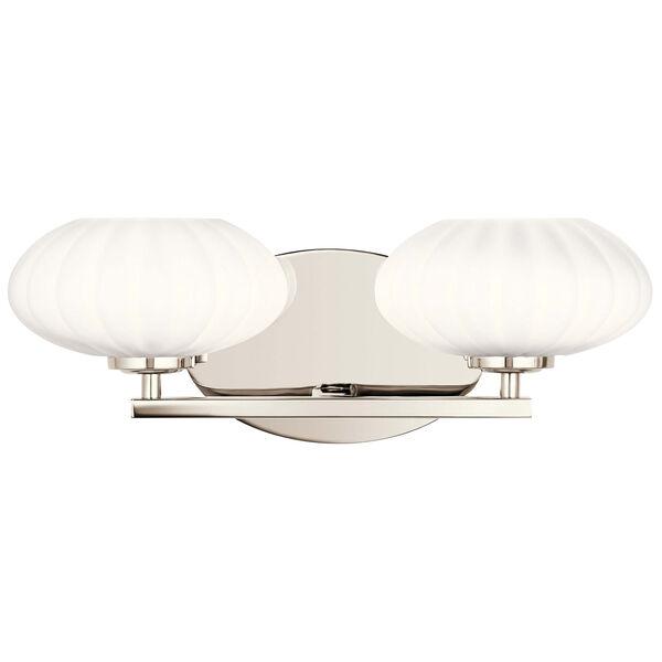 Pim Polished Nickel Two-Light Bath Vanity, image 2