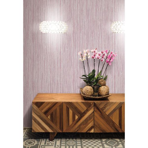 Antonina Vella Elegant Earth Berry Temperate Veil Stripes Wallpaper, image 1