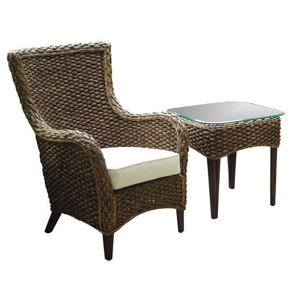 Sanibel Canvas Two-Piece Lounge Chair Set with Cushion, image 1
