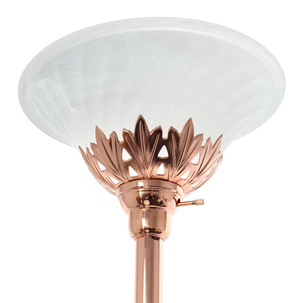 Quince Rose Gold White Shade Three-Light Floor Lamp, image 6