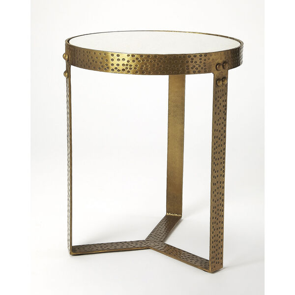 Butler Loft Marble and Metal Elton End Table, image 4