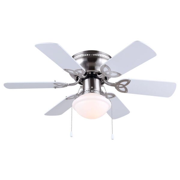 Twister Brushed Pewter 30-Inch One-Light Ceiling Fan, image 1
