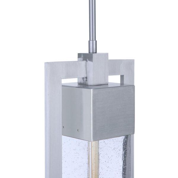 Perimeter Satin Aluminum One-Light Outdoor Mini-Pendant, image 5