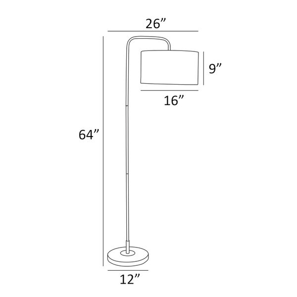 Orea Black One-Light Floor Lamp, image 4