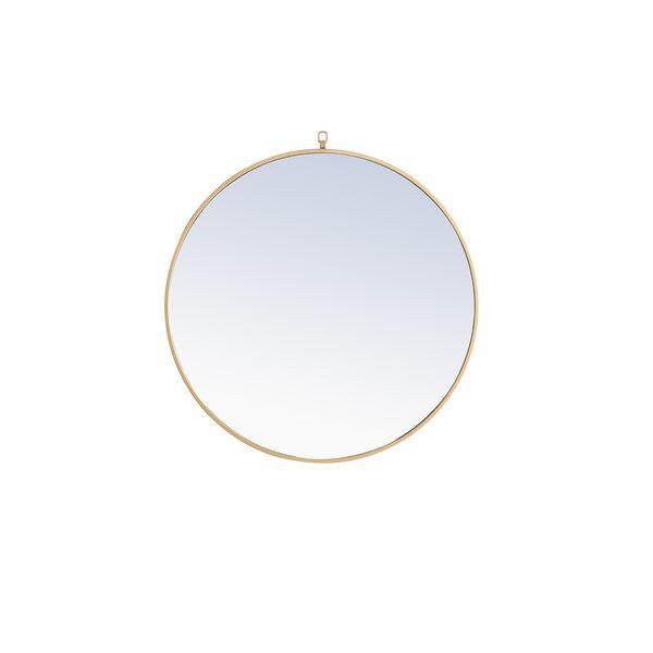 Eternity Brass Round 32-Inch Mirror with Hook, image 1