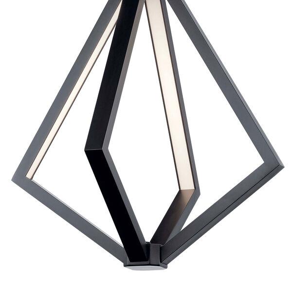 Everest Matte Black Four-Light LED Pendant, image 3