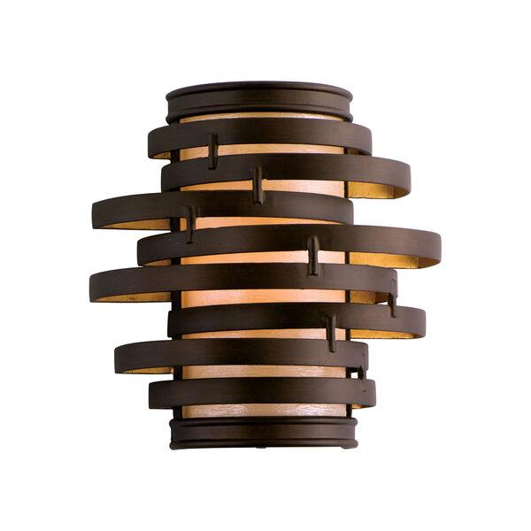 Vertigo Bronze with Gold Leaf One-Light Wall Sconce, image 1