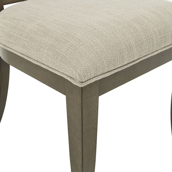 Gloria Dark Walnut and Beige Dining Chair, Set of Two, image 5