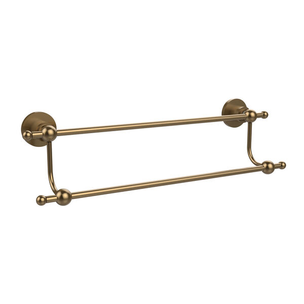 Astor Place Brushed Bronze 18 Inch Double Towel Bar, image 1