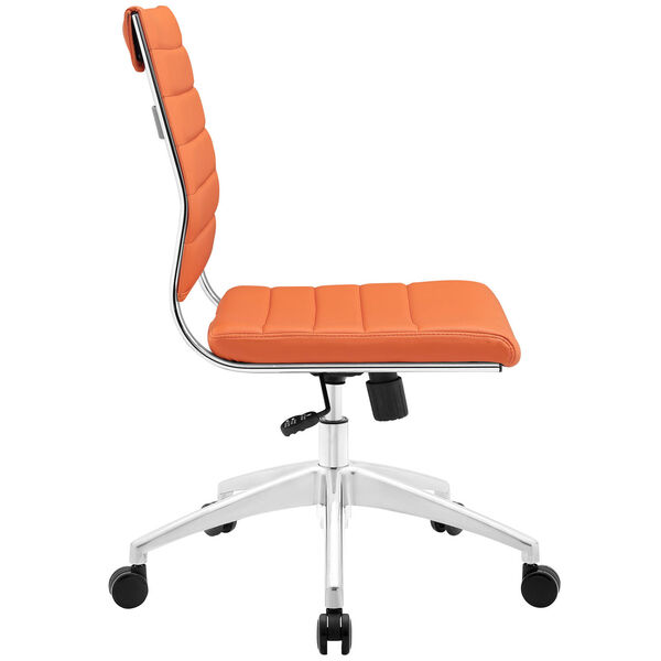 Jive Armless Mid Back Office Chair in Orange, image 3