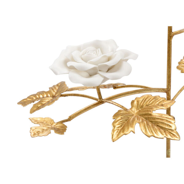 Gold and White Rose Stem, image 2