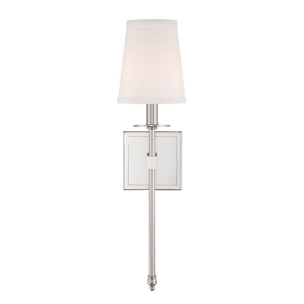 Monroe Polished Nickel One-Light 5-Inch Wide Wall Sconce, image 2