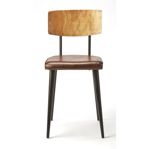 Brown 32-Inch Side Chair, image 3