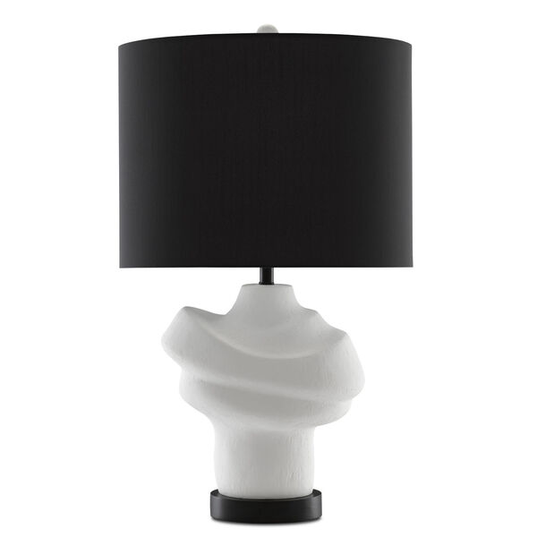 Farina Gesso White and Matte Black One-Light Table Lamp, image 3