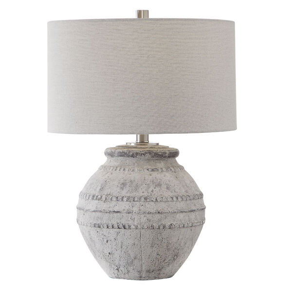 Montsant Ivory and Brushed Nickel Table Lamp, image 1