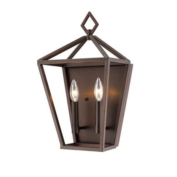 Kenwood Oil Rubbed Bronze Two-Light Wall Sconce, image 1