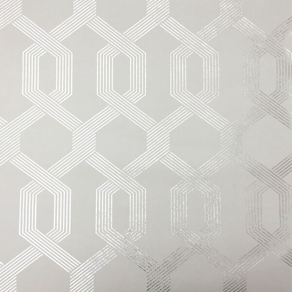 Mid Century Gray and Silver Wallpaper, image 1
