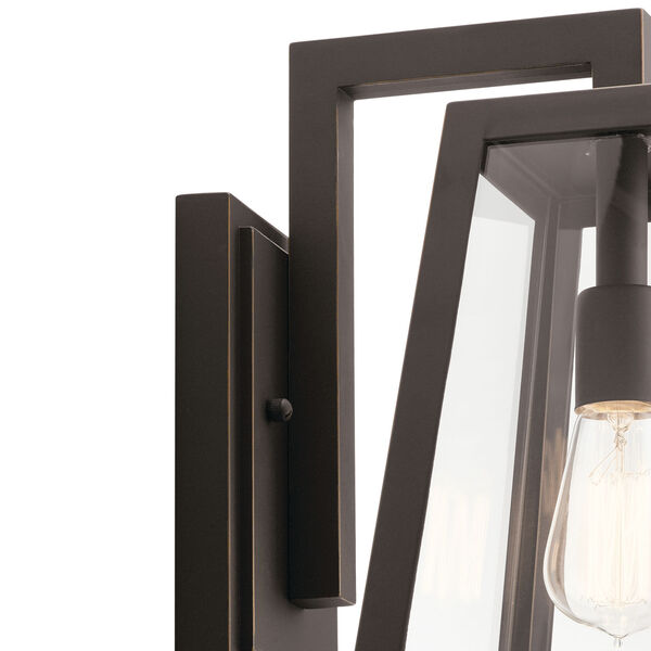 Delison Rubbed Bronze 10-Inch One-Light Outdoor Wall Sconce, image 2