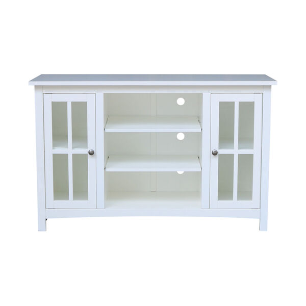 White 48-Inch TV Stand with Two Door, image 4