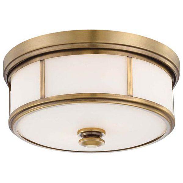 Bridgewater Gold Two-Light Drum Flush Mount, image 1