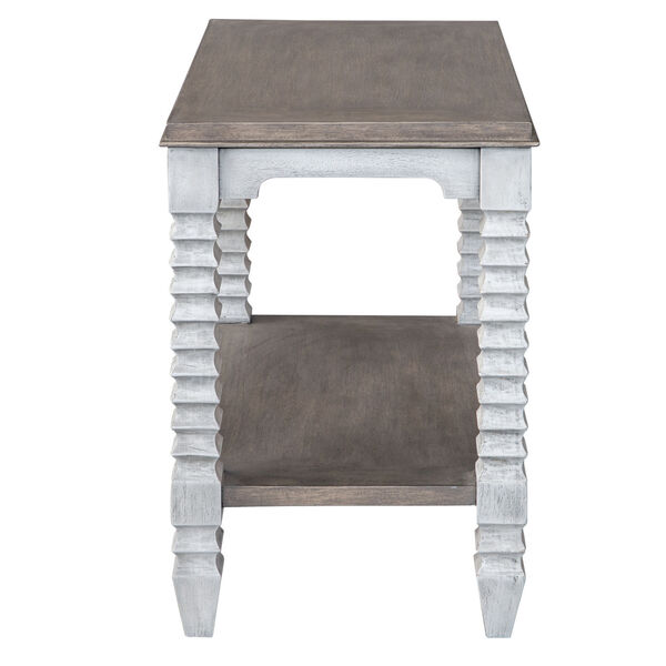 Calypso Gray and White Side Table, image 5