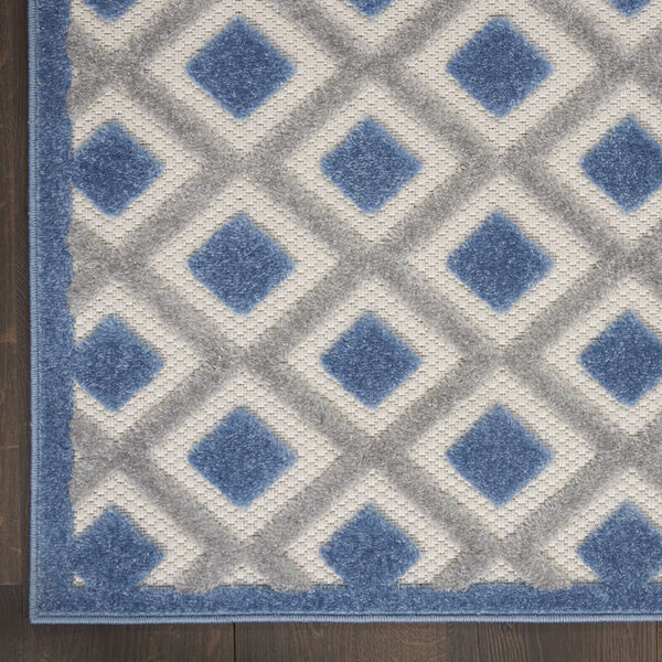 Aloha Blue and Gray Indoor/Outdoor Area Rug, image 4