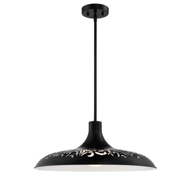 Flat Black 21-Inch One-Light Pendant, image 2