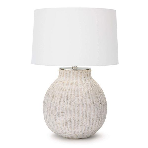 Hobi White One-Light Table Lamp, image 1