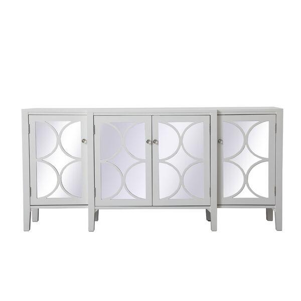 Modern White 72-Inch Sideboard, image 1