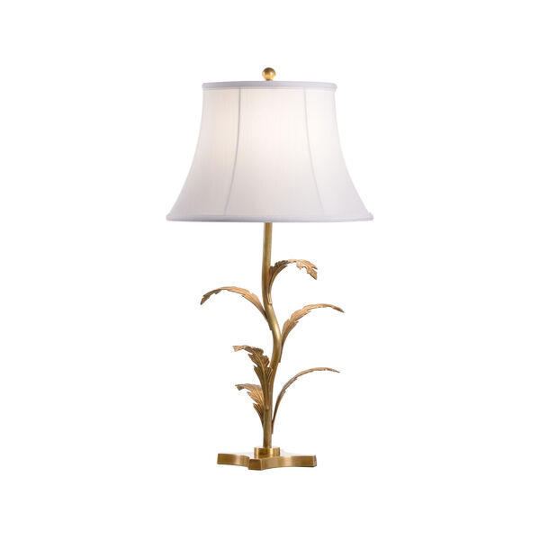 Beverly Tarnished Brass and White One-Light Glen Lamp, image 1