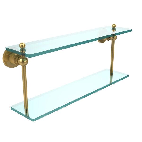 Polished Brass 22-Inch Double Shelf , image 1