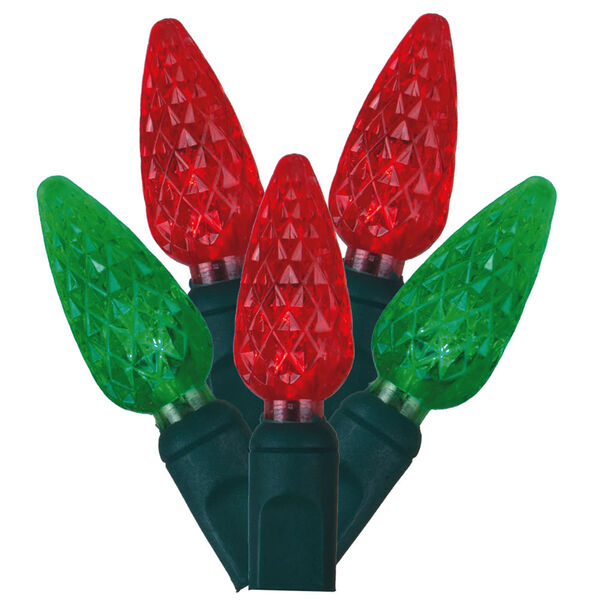 Red and Green LED Light Set with 50 Lights, image 1