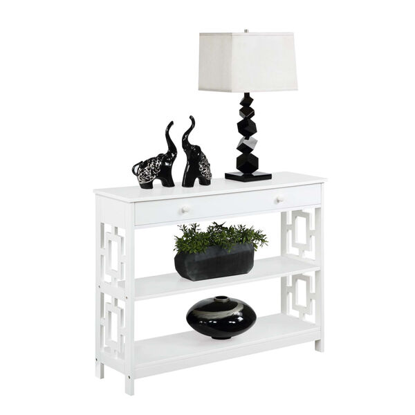 Town Square White Accent Console Table, image 2