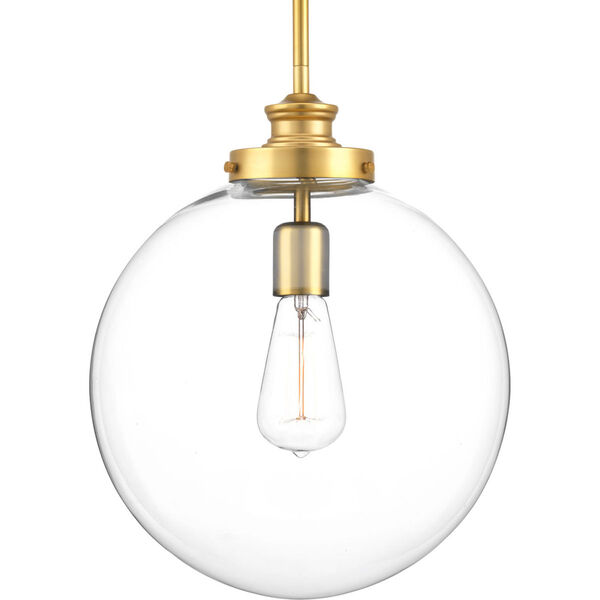 Isles Natural Brass One-Light Pendant, image 1