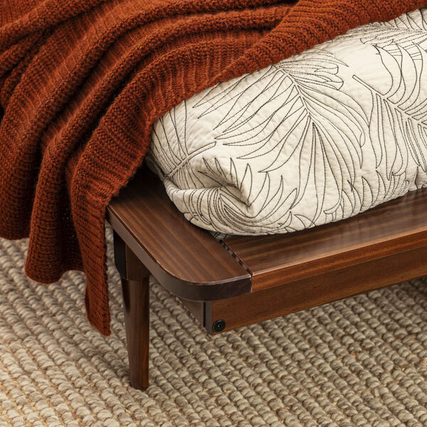Queen Walnut Spindle Bed, image 2