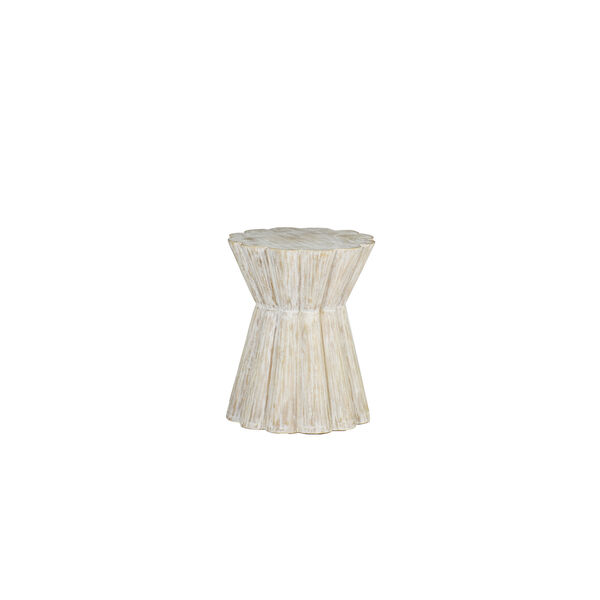 Annie Light Whitewashed Wood Side Table, image 1