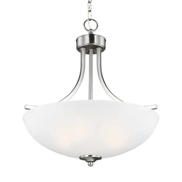 Geary Brushed Nickel 19-Inch Three-Light Pendant, image 2