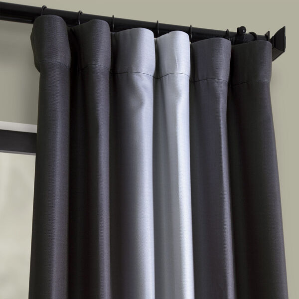 Grey 108 x 50-Inch Polyester Blackout Curtain Single Panel, image 2